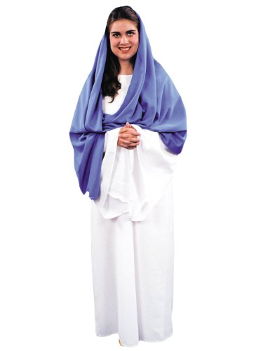 Virgin Mary Costume Theater Production Costume Christmas Religious Costumes Sizes: One Size (Mary Costume For Women)