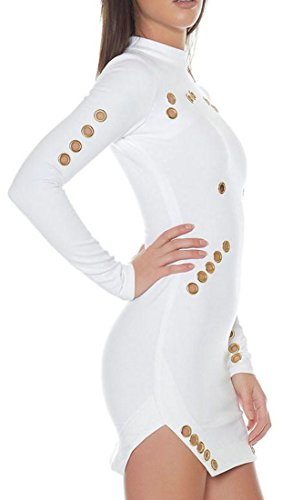 Long Solid White Bodycon Hollow Sleeve Womens Out Skinny Cruiize Mini Dress UwXSqCS