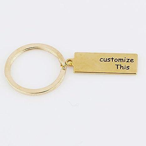 Amazon.com: Mct12-1 llavero personalizado con texto en ...