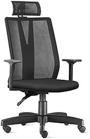 Cadeira de Escritório Presidente Giratória Addit Back System com Apoio Cabeça Frisokar Preta