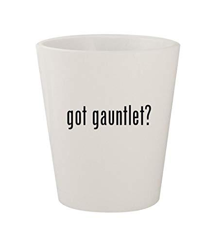 got gauntlet? - Ceramic White 1.5oz Shot Glass