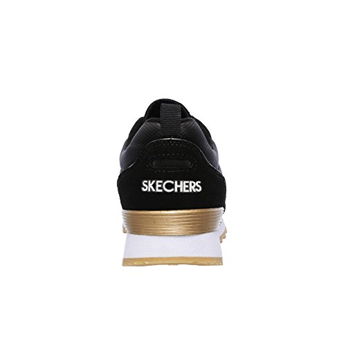 Schwarz OG 85 Basse Sneaker Retros Donna goldn Skechers Gurl SwHfq8w5
