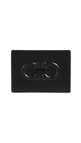 Salvatore Ferragamo Men's Firenze Logo Card Case, Black, One Size - Firenze Card Case