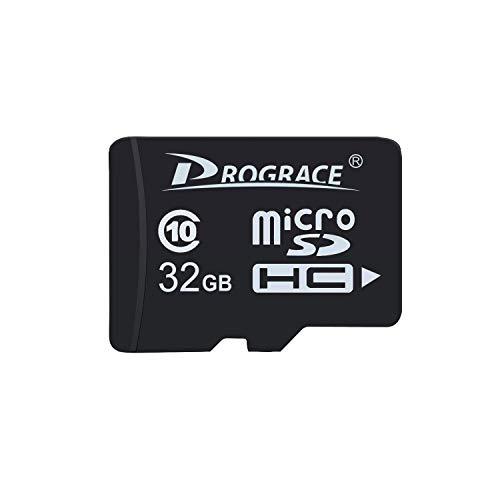 Camera Tf Card - PROGRACE 32GB Micro SD Card Class 10 TF Card Memory Card for Kids Camera
