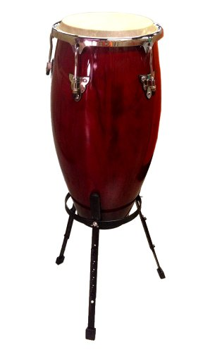 Conga DRUM 11'' + STAND - RED WINE -World Percussion NEW! by Unknown (Image #3)