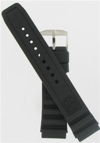 22mm Black Rubber Strap Watch Band