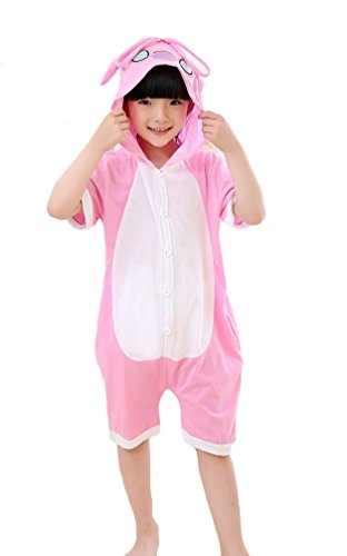 Tonwhar Childrens Summer Short Sleeve 100% Cotton Animal Pajamas Onesies Cosplay Homewear (110( Height:47.2