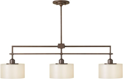 - Feiss F2402/3CB Sunset Drive Linear Pendant Island Lighting, Bronze, 3-Light (40