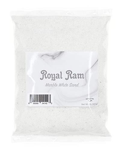 (Royal Ram 2 pounds Natural White Marble Decorative Real Sand - for Interior Decor, Vase Filler, Sand Crafts, Aquariums & More)
