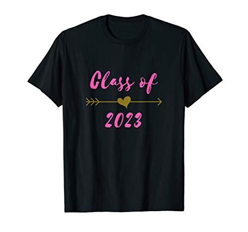 Class of 2023 8th Grad Gift Pink Boho Arrow Teen T-Shirt -