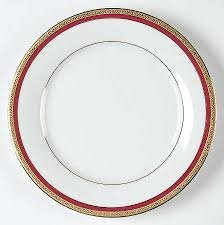 Charter Club Home Fashion Buffet Gold Red Band Saucer (Band Gold Porcelain)