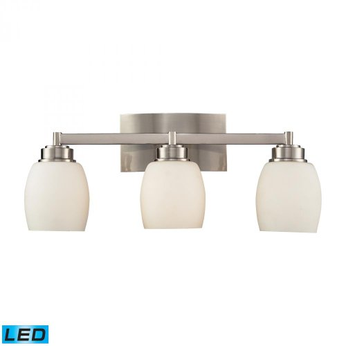 Elk Lighting 17102/3-LED Vanity Light, Satin Nickel