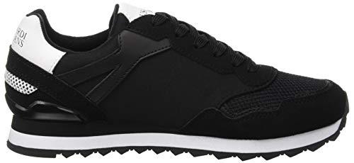 de Trussardi Negro Zapatillas Gimnasia Jeans Black para Mujer White K308 Running Nero 7779 0twEtr