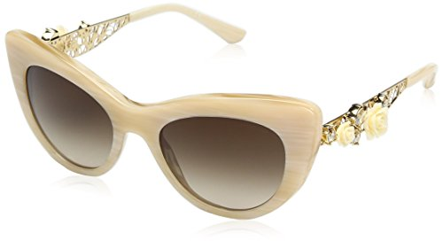 Dolce & Gabbana Women's Acetate Woman Cateye Sunglasses, White Horn, 50 - Gabbana White And Glasses Dolce
