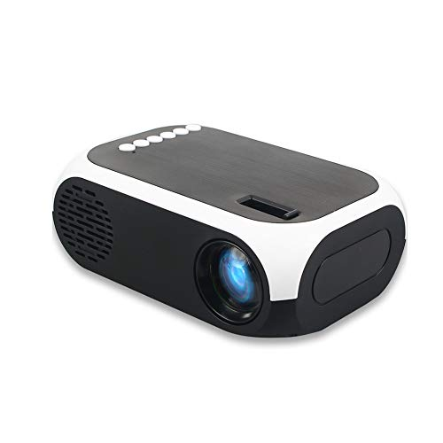 ZXGHS Portable Mini Projector, LCD Smart Projector 4K 3D 1920 1080P Mini Projector Interface Supports USB AV HDMI Home Theater,White