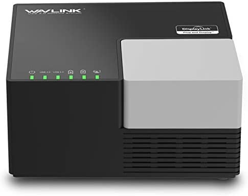 WAVLINK USB 3.0 Universal Laptop Docking Station Dual Monitor Display for PC, Tablets, Android 5.0 Later Phone(HDMI,DVI & VGA, Gigabit Ethernet,2 Red Charging Port, 4 USB Data Ports, Audio)