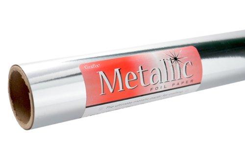Grafix Silver Metallic Foil Paper Roll 26-Inch-by-6-Feet (Board Mirror)