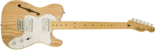 Squier by Fender 301280521 Vintage Modified'72 Telecaster Electric Guitar Thinline - Natural - Maple Fingerboard