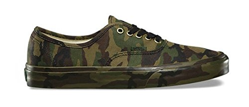 Vans Authentic Womens Size 5.5 / Youth 4 Mono Print Classic Camo Green Skateboarding ()