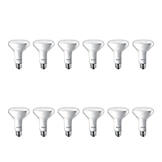 Philips LED 474312 BR30 Dimmable 650-Lumen, 2700-Kelvin, 11 (65-Watt Equivalent) Flood Light Bulb with E26 Medium Base, Soft White, 12-Pack, 12 Pack