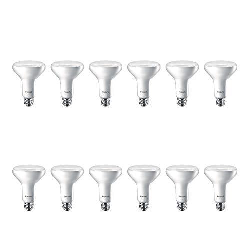 Philips LED 474312 BR30 Dimmable 650-Lumen, 2700-Kelvin, 11 (65-Watt Equivalent) Flood Light Bulb with E26 Medium Base, Soft White, 12-Pack, 12 Pack, 12 Count
