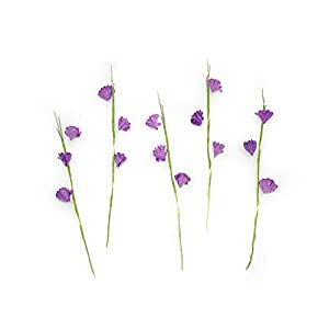"5"" Purple Paper Baby's Breath with Pollen, Paper Flower, Mulberry Paper Flowers, Miniature Flowers For Crafts, Baby's Breath Artificial Flowers, 10 Pieces 2"