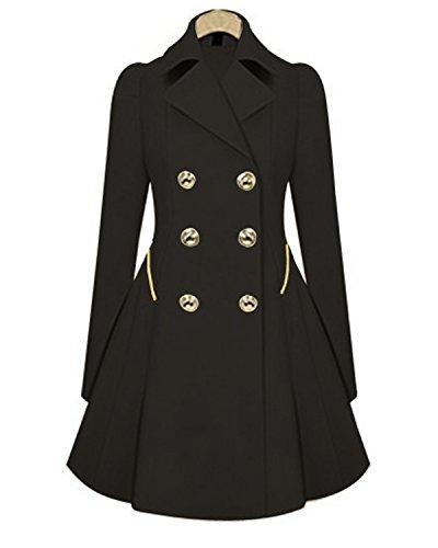 Long Black Swing Coat - 9