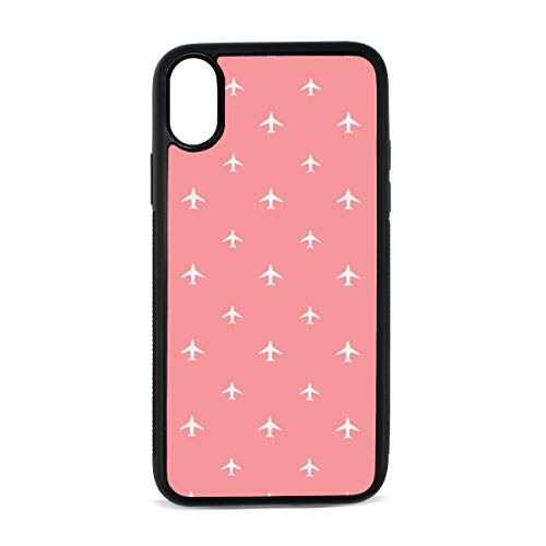 iPhone Aircraft Military Combat Cartoon Design Creative Flight Force Cute Digital Print TPU Pc Pearl Plate Cover Phone Hard Case Accessories Compatible with Protective Apple Iphonex/xs Case 5.8 Inch ()