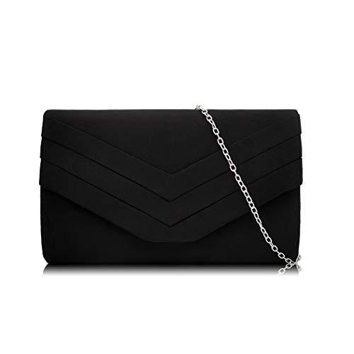 Wallet Party for Bag Flannel Clutch Black Womens Cocktail Flada Handbag Wedding Purse Evening nwSY6Wqv