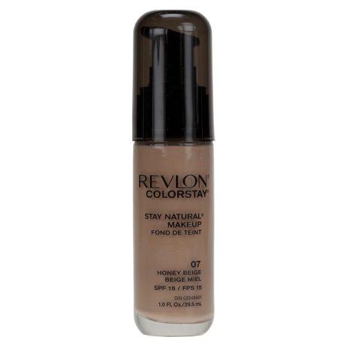 Revlon Colorstay Stay Natural Makeup Foundation, HONEY BEIGE 07, 1 fl. Oz (30 ml)