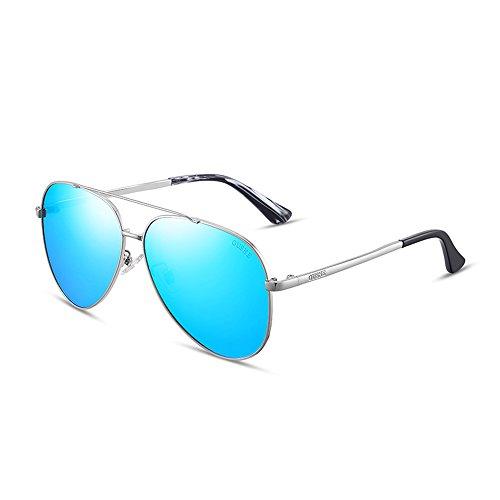E hombre Gafas ZHIRONG D de marco adecuado metal para moda polarizado de aviador sol para de conducir playa Color q4fYwdfTx