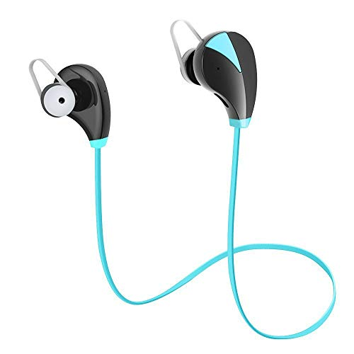 Fiesand Wireless Earbuds  Sports Headsets Sweatproof Earphones Noise Cancelling Headsets with Mic for Running Jogging Blue
