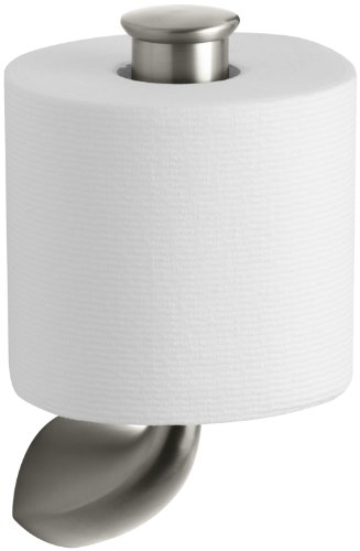 Kohler Satin Toilet Tissue Holder - KOHLER K-37056-BN Alteo Vertical Tissue Holder, Vibrant Brushed Nickel