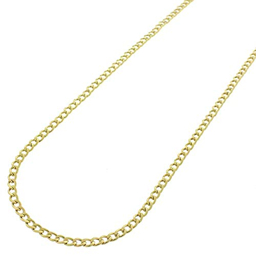 - Verona Jewelers 14K Gold Unisex 2.2MM Cuban Curb Link Chain Necklace- 14k Necklaces, Gold Curb Chain Made in Italy (20)