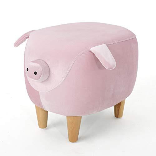 Benji New Velvet Pig Ottoman (Pink)