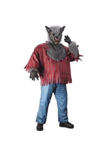 Fun World Men's Werewolf Plsz Cstm, Multi, Plus Size -