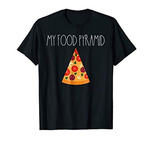 food pyramid pizza shirt - 7