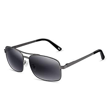 Sonnenbrille Edelstahl-Rahmen polarisierte Sonnenbrille TAC Anti-UV männliche graue Linse ( farbe : Silver frame ) R4MN1gf4cm