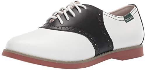 Eastland Women's Sadie Shoe, Black/White, 8.5 M US