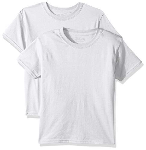Gildan Kids DryBlend Youth T-Shirt, 2-Pack, White, Small