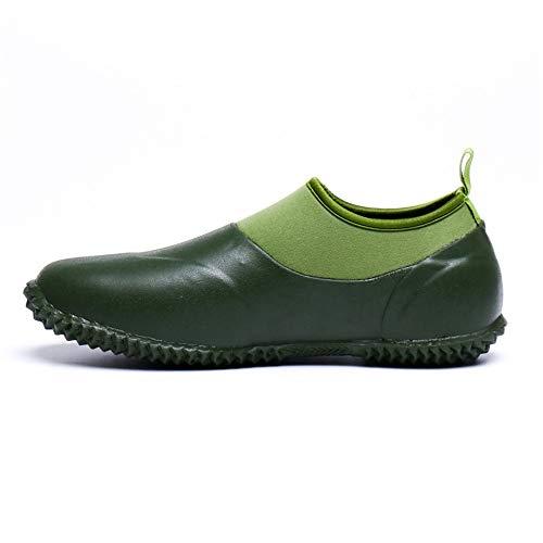 Styhatbag Boot Hunter Scarpette basse da uomo Short Tube Rubber Boots Blanc Rubber Shoes Scarpe da uomo (Dimensione : 39 1/3 EU)