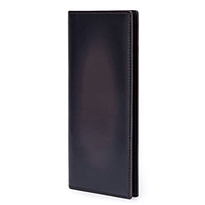 TERSE Bifold Long Wallet For Men Secretary Wallet With 6 Credit Card Slots - Italian Calfskin