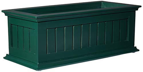 DMC Products Nantucket 24-Inch Solid Wood Window Box, Hunter ()