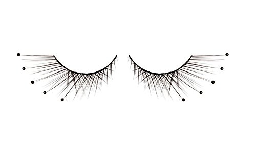 Zink Color Black Pearl False Eyelashes D110 Dance Halloween Costume