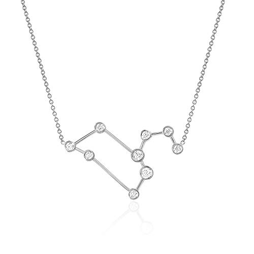 (espere Sterling Silver Zodiac Necklace Constellation Jewelry Birthday Gift Sorority Sister Gift [Leo - Jul 23 - Aug 22])