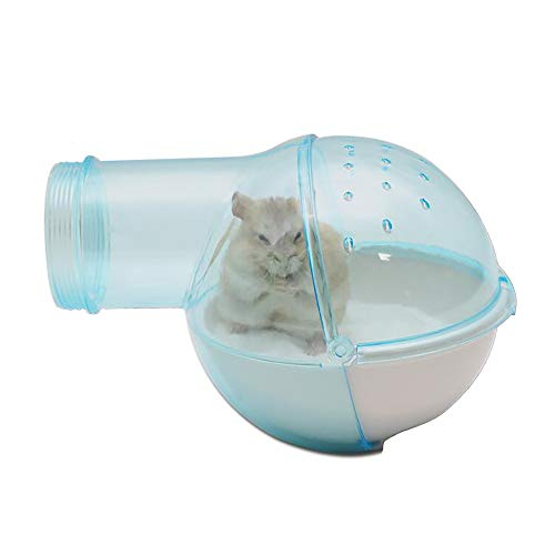 (Bathroom House for Mouse,Small Animal Toilet, Chinchilla, Rat, Gerbil and Dwarf Hamster - Color Blue)
