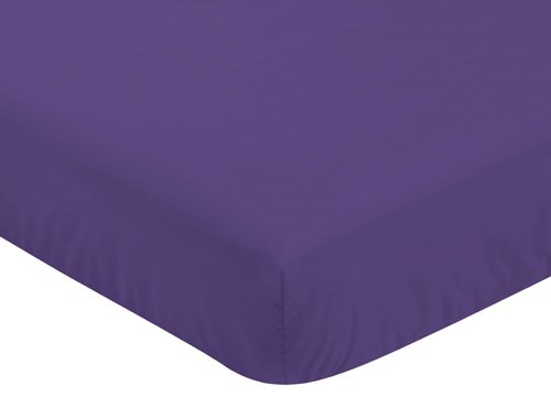 (Sweet Jojo Designs Fitted Crib Sheet for Sloane Baby/Toddler Bedding - Purple)