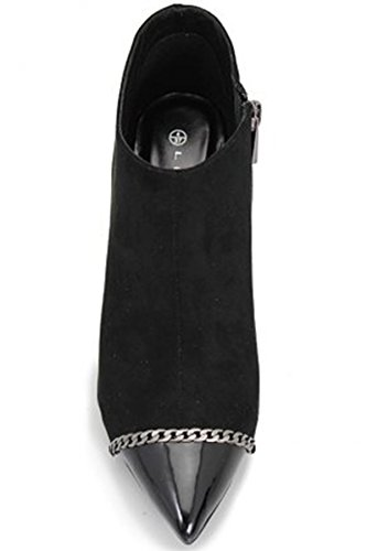 Heeled Boots Ankle Chain Boutique Flr296 Sapphire Clutch Black Womens Only Faux shoe Escada Detail Suede Bag xg8vvqz
