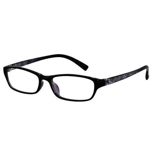 EyeBuyExpress Shield Black Reading Glasses Magnification Strength 8