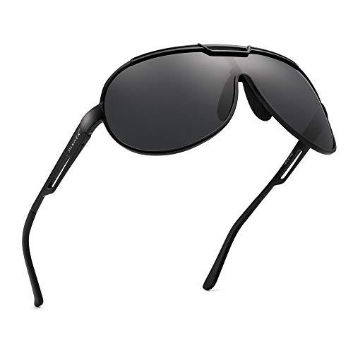 PANNER Oversized Retro Aviator Sunglasses for Men Al-Mg Metal Frame Ultra Light